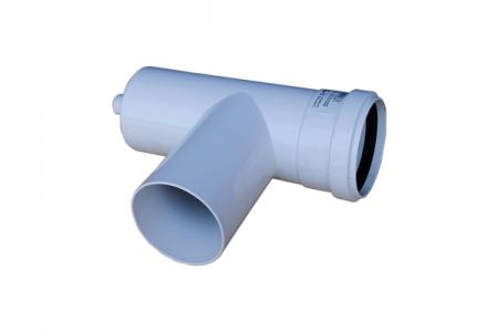 Т-образное соединение ∅ 80 мм со сливом конденсата