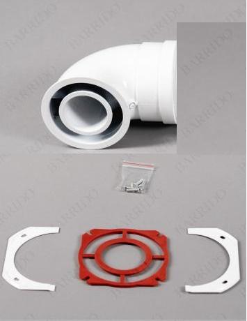 Колено коаксиальное алюминиевое отвод 90 гр. 60/100 стартовый CC-IM-01 Immergas