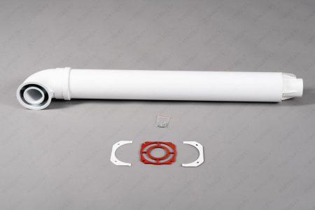 Комплект коаксиальный для горизонтального прохода через стену Ø60/100мм K-C-03 (I) (BARRIDO)