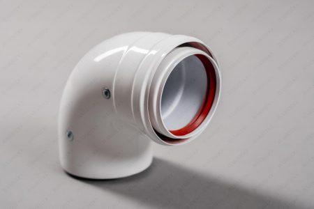 Алюминиевый отвод с теплоизоляцией 90° Ø 80-100 Ст.-80/100-90