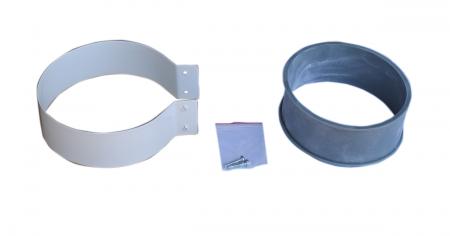 Хомут (стальной с резиновой муфтой) Ø100 мм.