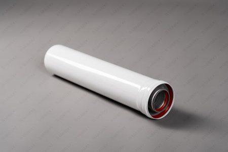 Коаксиальная труба удлинение с раструбом L длина-500 мм (0,5 метра) Ø60/100мм С-EXT-0,5