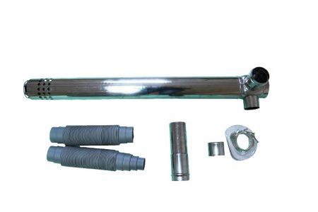 Комплект коаксиальный для горизонтального прохода через стену корейский тип подключения (Прямой) Ø75/100мм