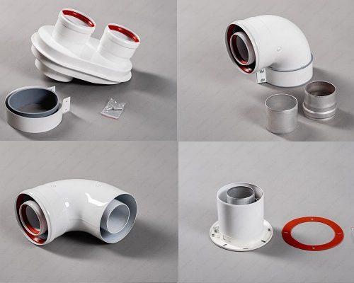 Коаксиальная система дымоудаления 60/100 мм (отводы, адаптеры, муфты, конденсатоотводчики)